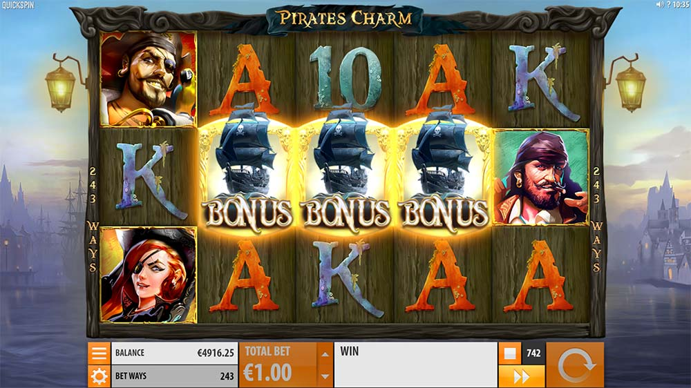 Pirate's Charm Slot - Bonus Trigger