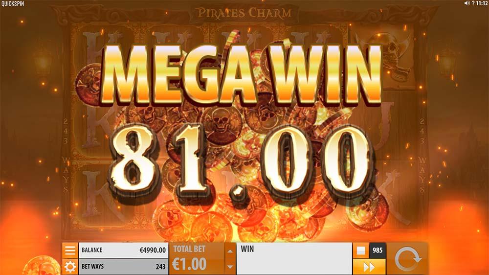 Pirate's Charm Slot - Mega Win