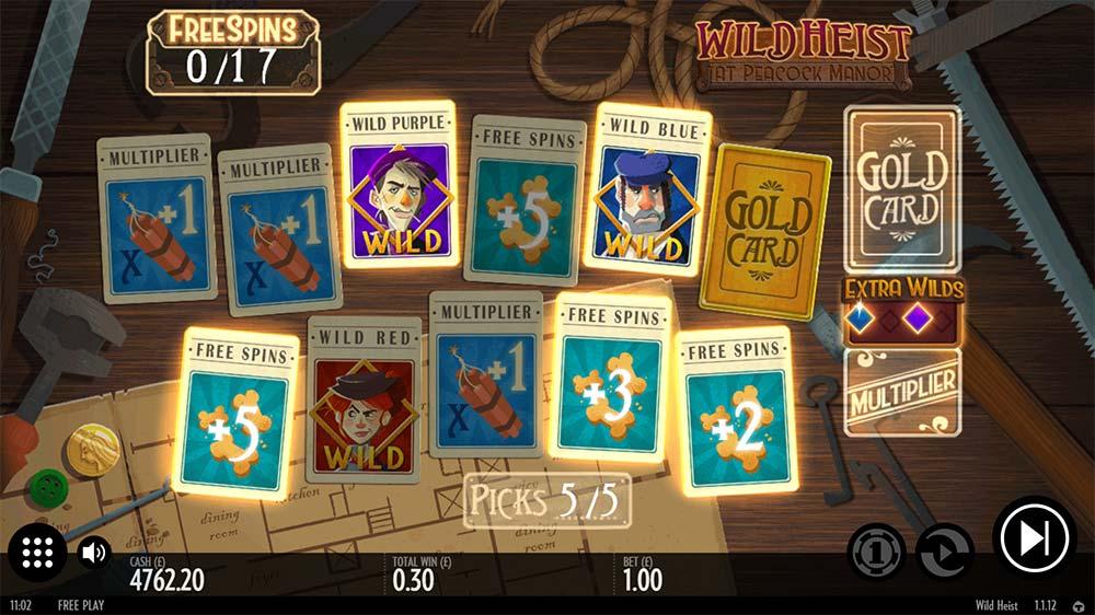 Wild Heist At Peacock Manor Slot - Bonus Picking Round