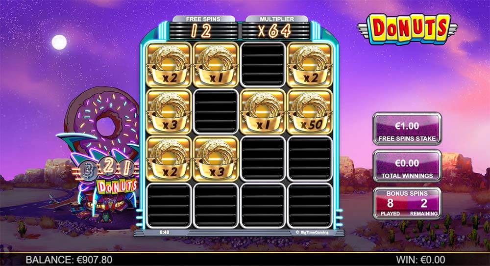 Donuts Slot - Bonus Multipliers