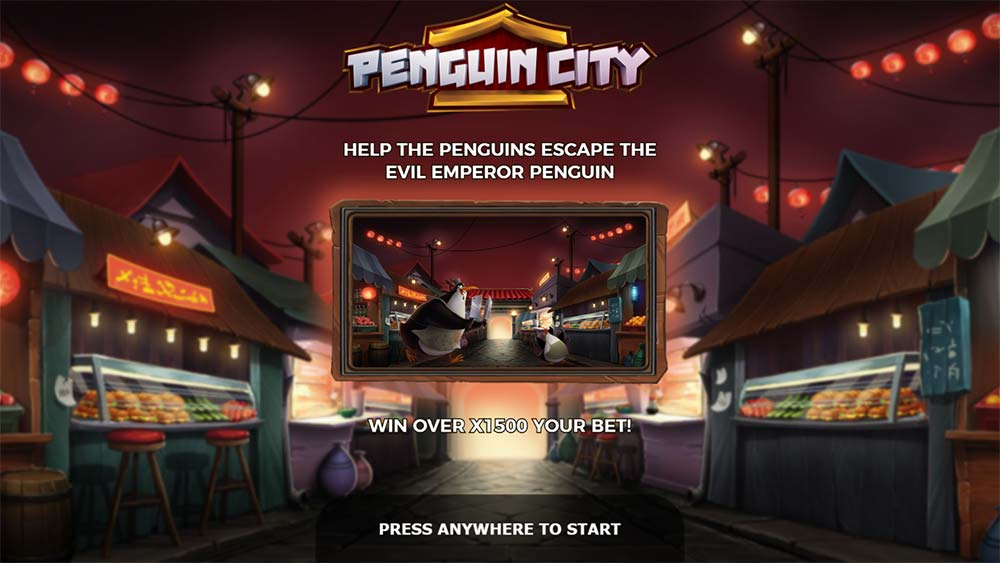 Penguin City Slot - Intro Screen