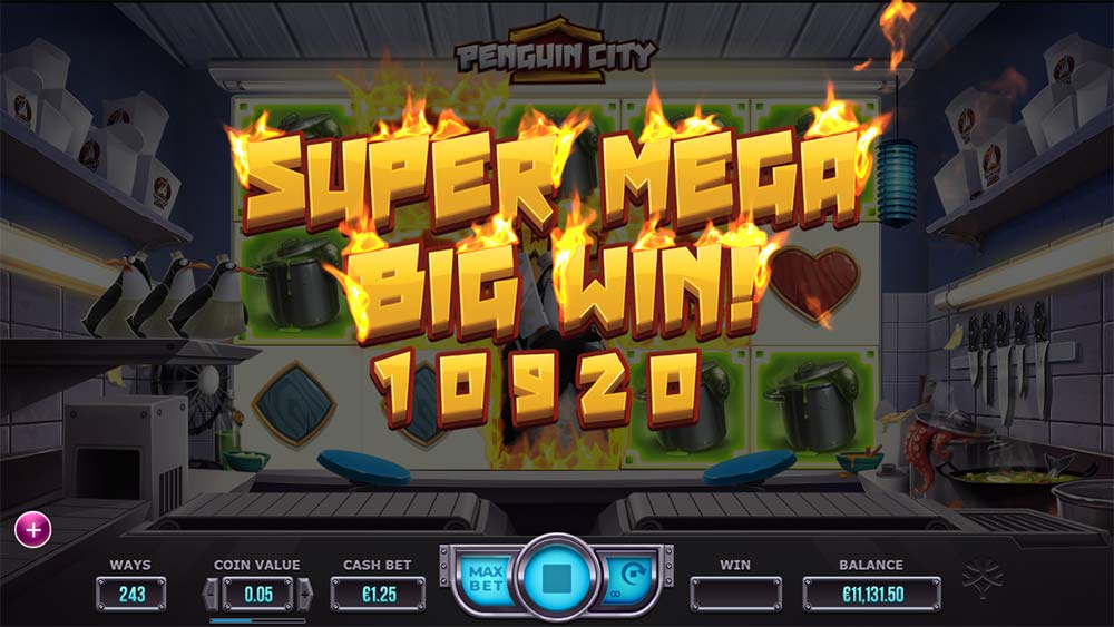 Penguin City Slot - Super Mega Big Win