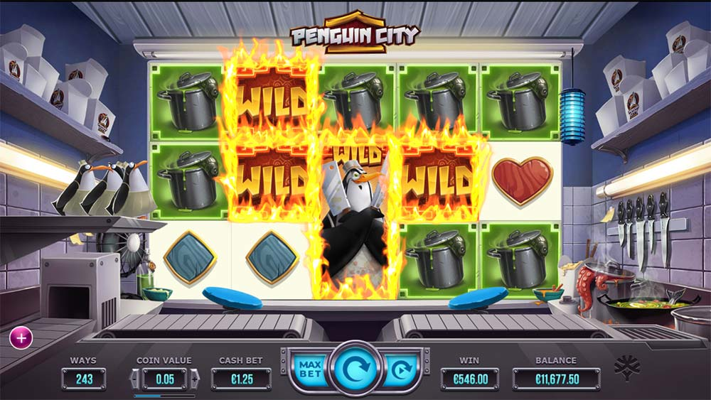 Penguin City Slot - Sticky Wilds