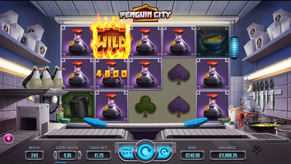 Penguin City Slot - Big Win