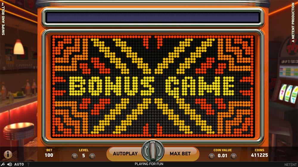 Swipe and Roll Slot - Bonus Game Triggered