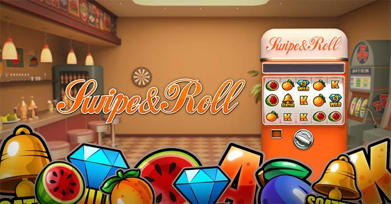 Swipe and Roll Slot Logo