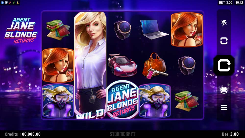 Agent Jane Blonde Returns Slot - Base Game