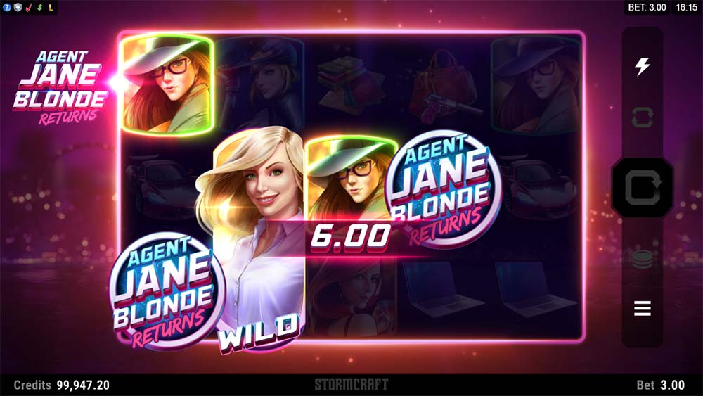 Agent Jane Blonde Returns Slot - Scatter Trigger
