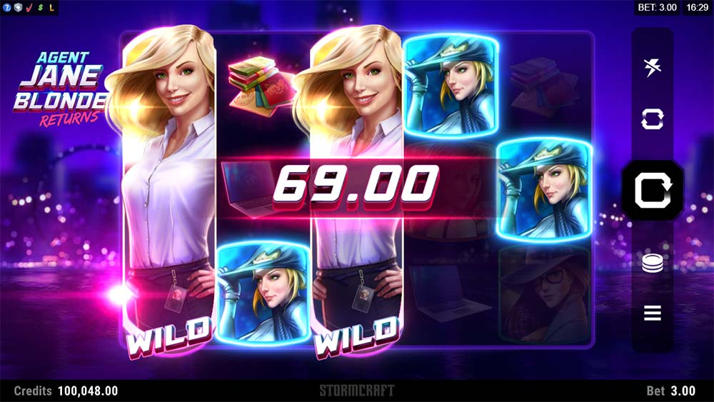 Agent Jane Blonde Returns Slot - Stacked Wilds