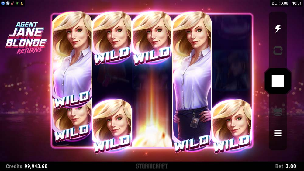 Agent Jane Blonde Returns Slot - Re-Spin Wilds