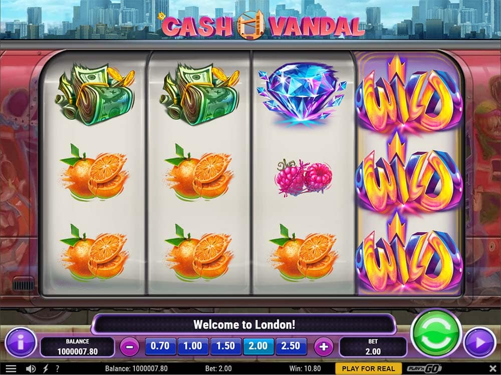 Cash Vandal Slot - Base Gameplay