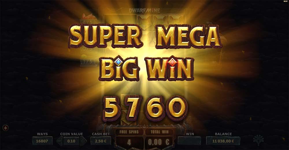 Dwarf Mine Slot - Super Mega Big Win