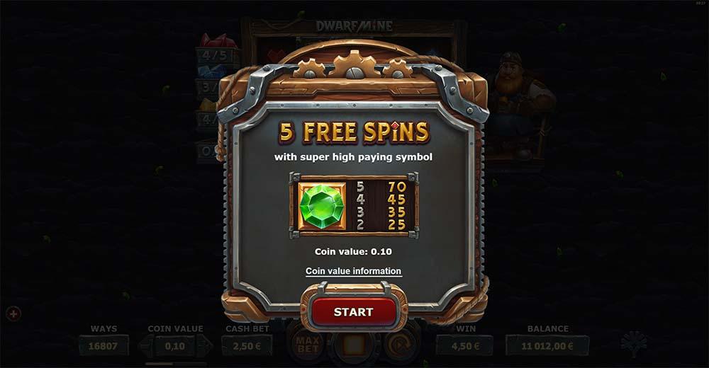 Dwarf Mine Slot - Collection Free Spins