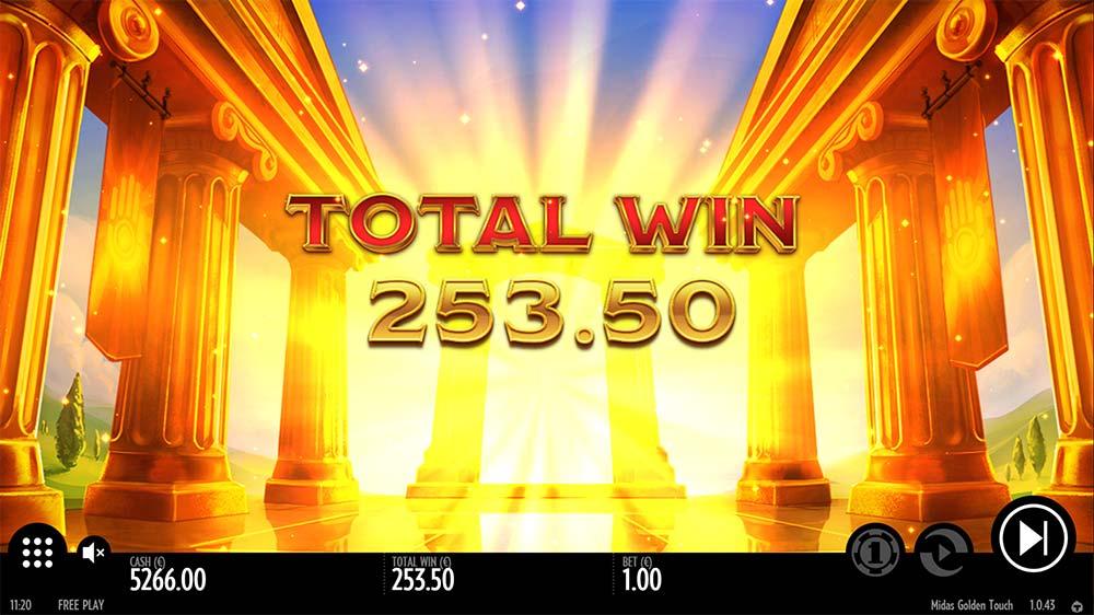 Midas Golden Touch Slot - Bonus End