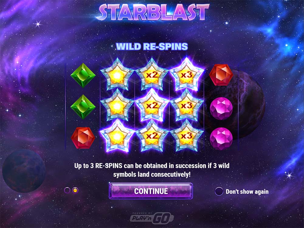 Starblast Slot - Intro Screen