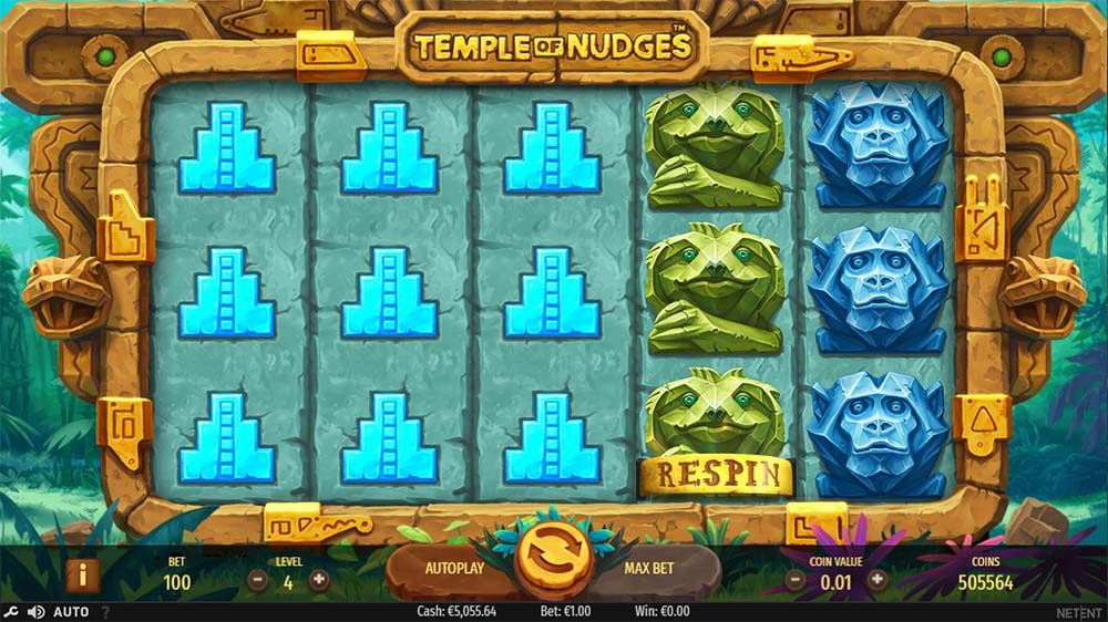 Temple of Nudges Slot - Respin Mode