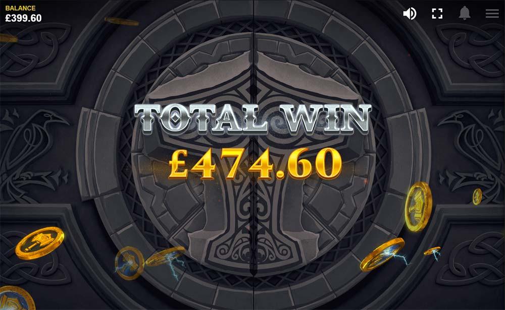 Thor's Lightning Slot - Bonus Win