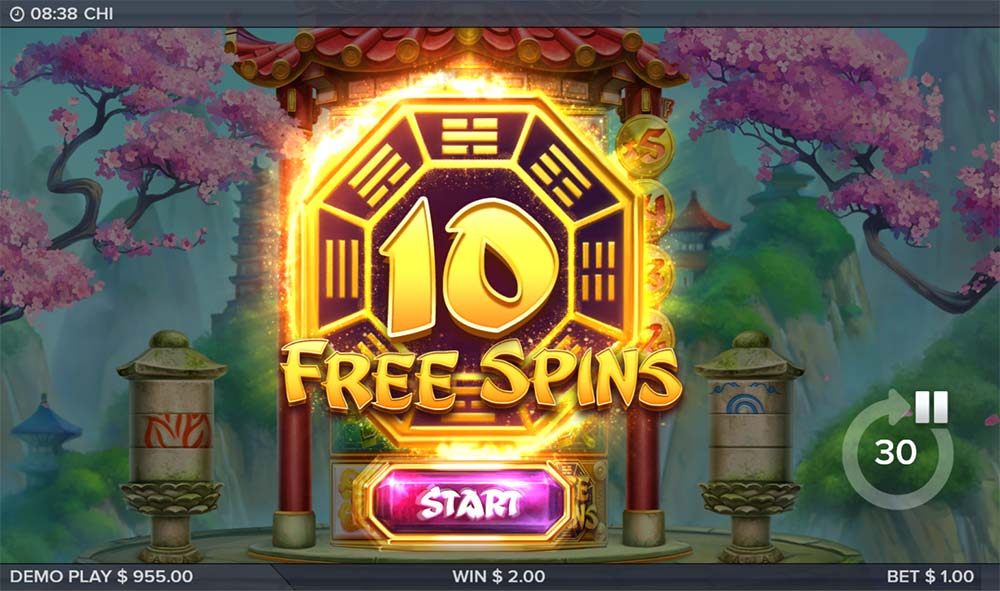 Chi Slot - Free Spins Bonus Triggered