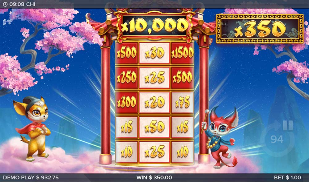 Chi Slot - Stairway to Fortune Bonus Feature