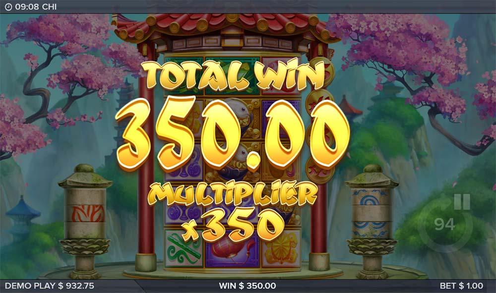 Chi Slot -Stairway to Fortune Bonus End Result
