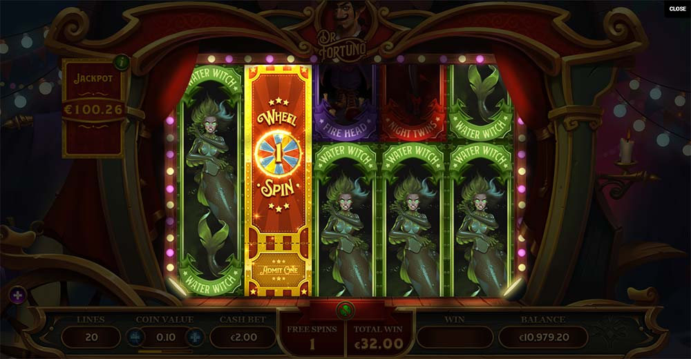 Dr Fortuno Slot - Free Spins - No Low Symbols Feature