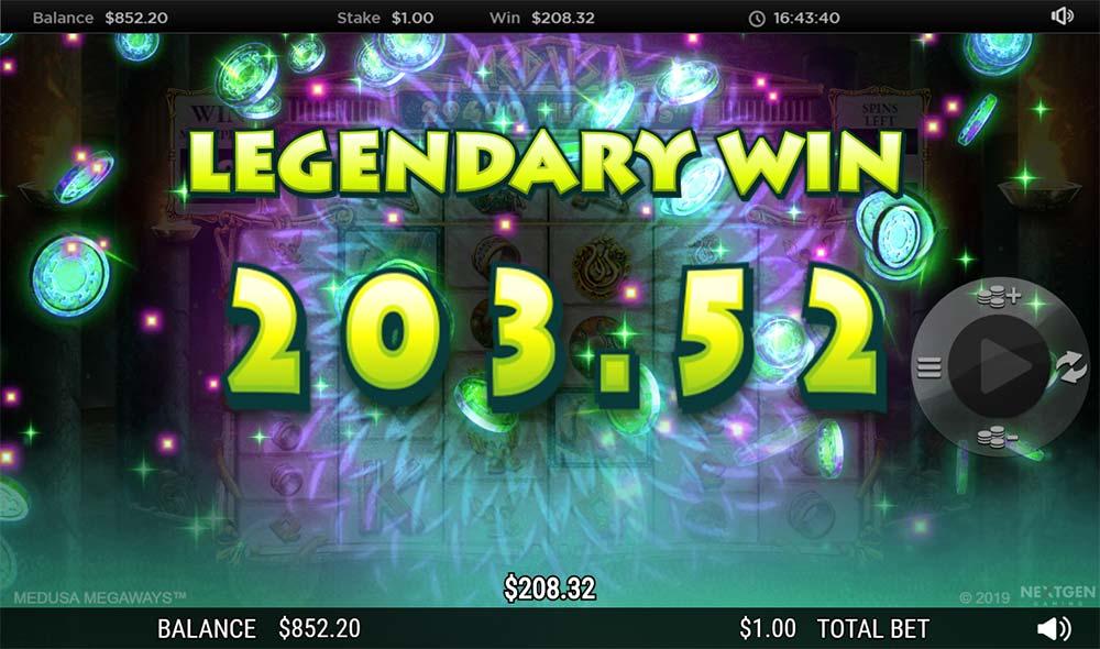 Medusa Megaways Slot - Legendary Win