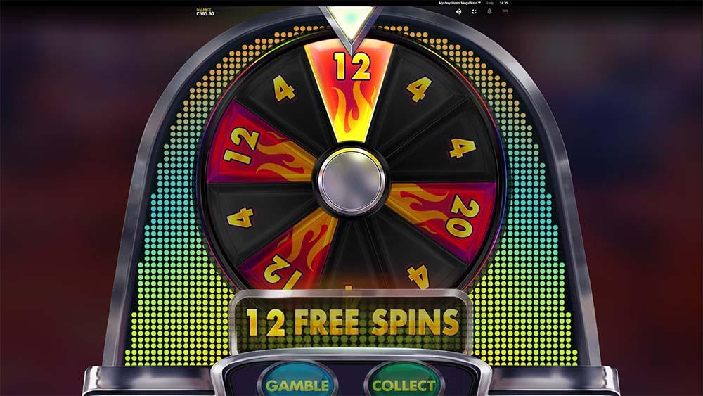 Mystery Reels Megaways Slot - Bonus Gamble Wheel