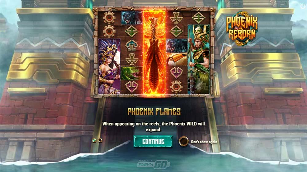 Phoenix Reborn Slot - Intro Screen
