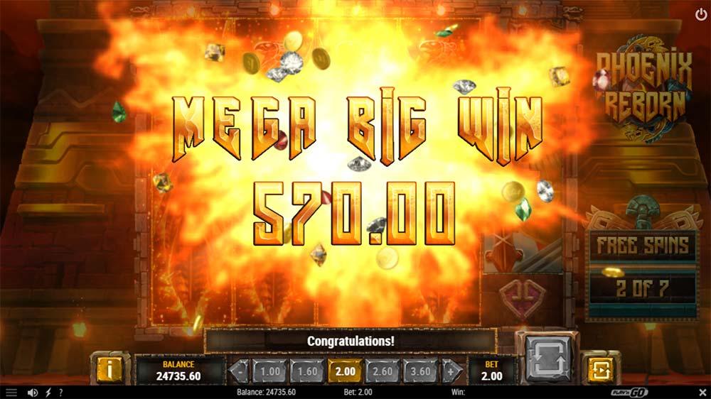 Phoenix Reborn Slot - Mega Big Win