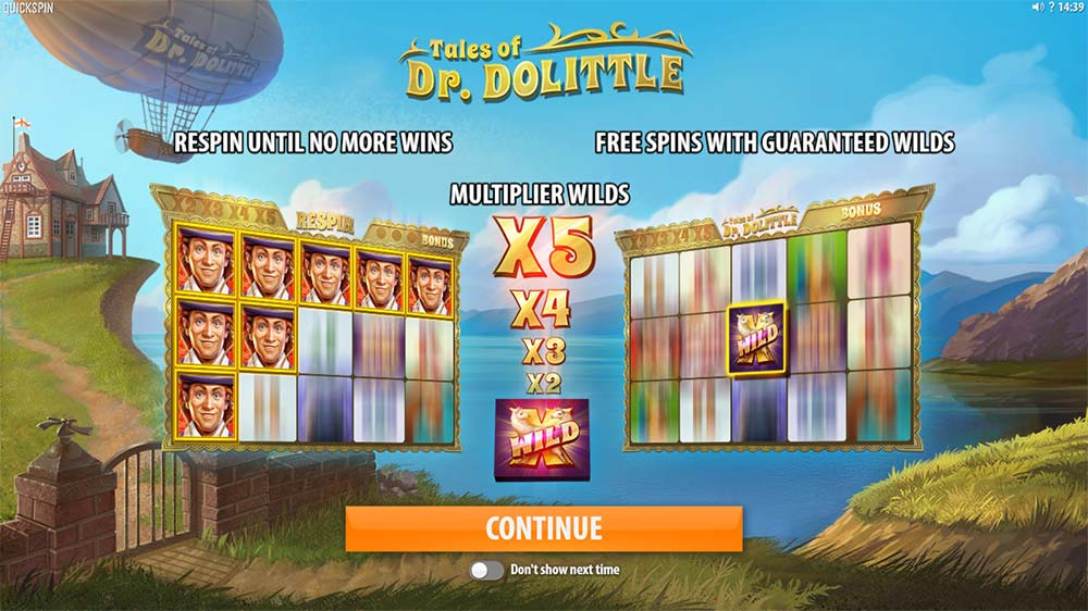 Tales of Dr. Dolittle Slot - Intro Screen