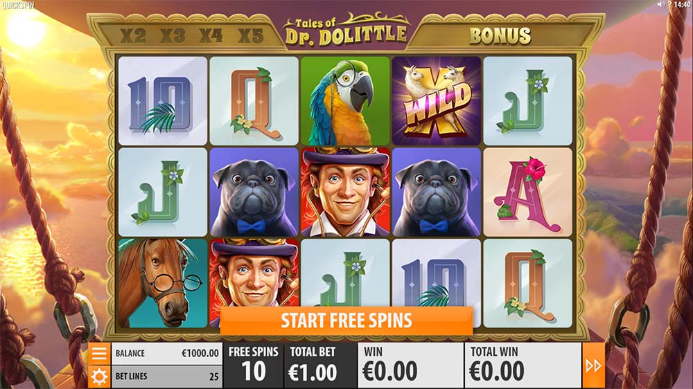 Tales of Dr. Dolittle Slot - Free Spins Start