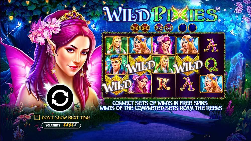 Wild Pixies Slot - Intro Screen