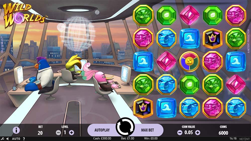 Wild Worlds Slot - Base Game