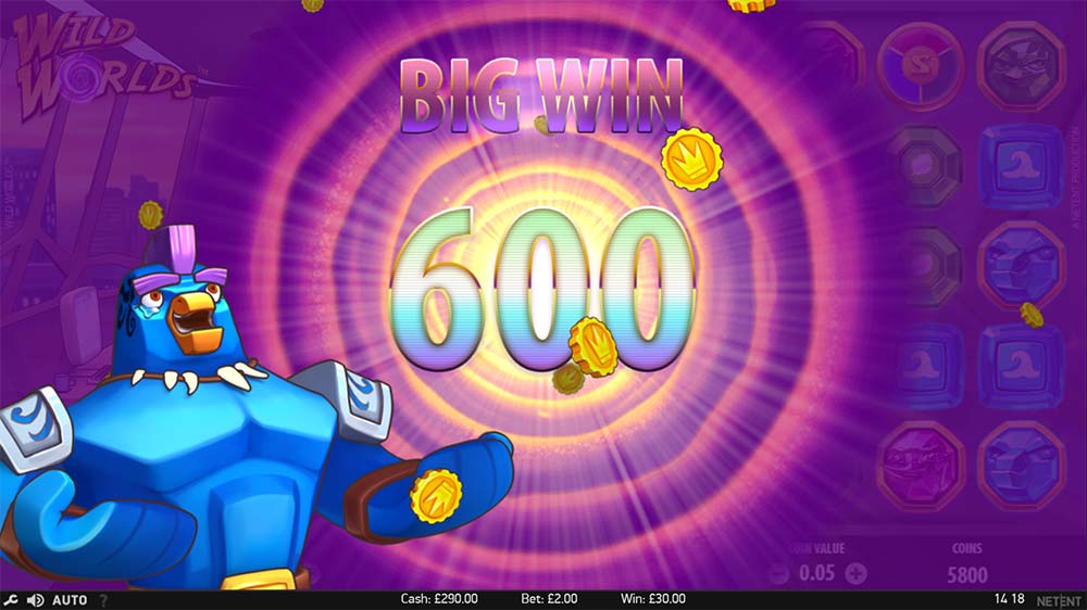 Wild Worlds Slot - Big Win
