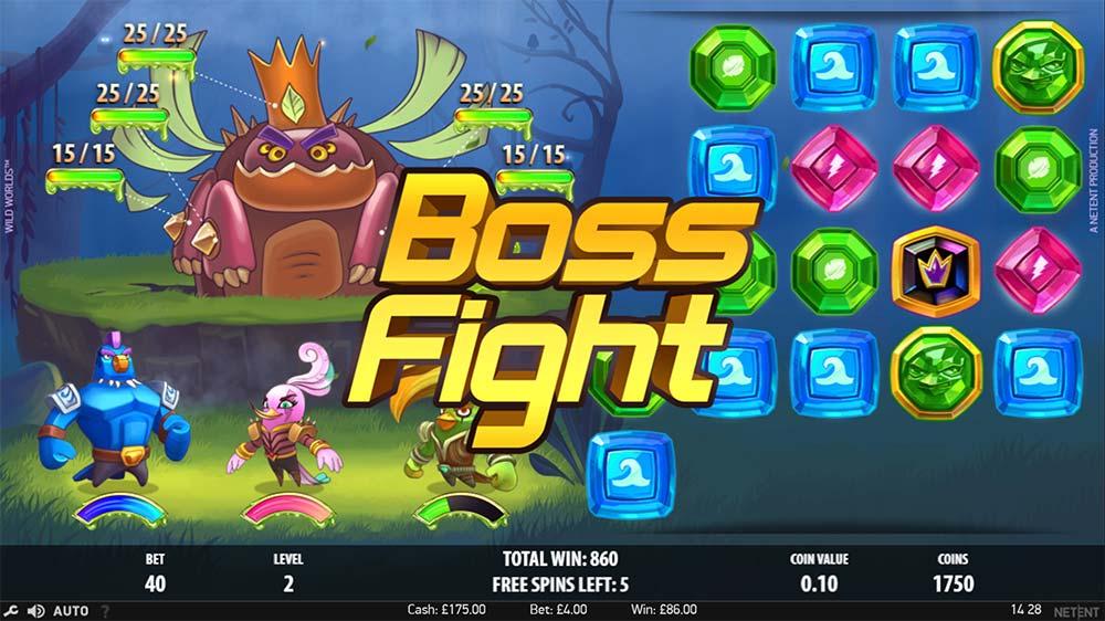 Wild Worlds Slot - Boss Fight