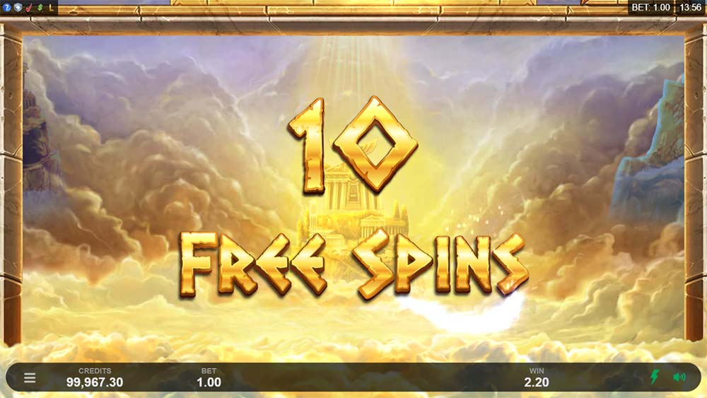 Ancient Fortunes: Zeus Slot - Free Spins Awarded