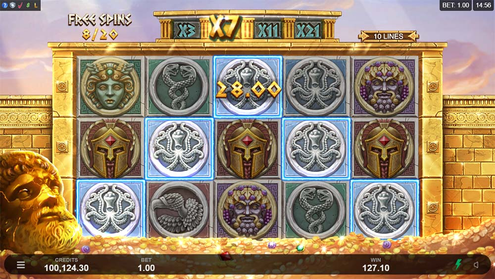 Ancient Fortunes: Zeus Slot - 5 of a kind win