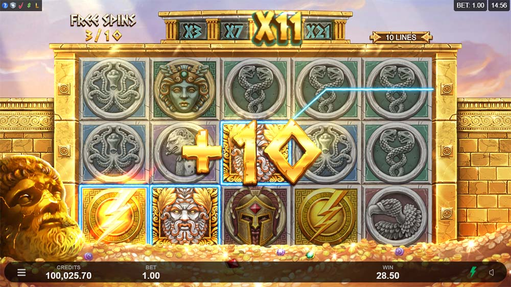 Ancient Fortunes: Zeus Slot - Bonus Re-Trigger