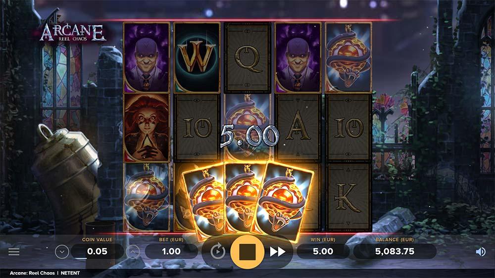 Arcane Reel Chaos Slot - Bonus Trigger