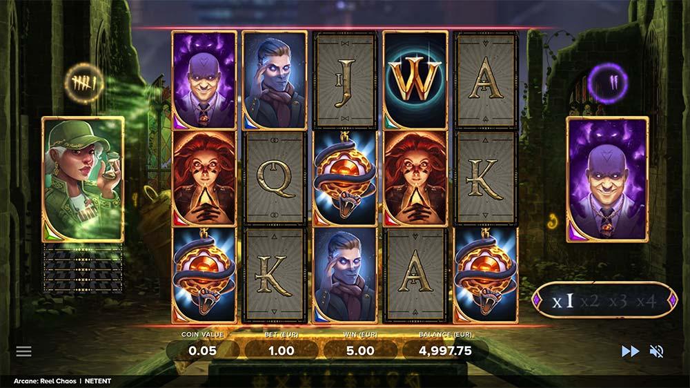 Arcane Reel Chaos Slot - Free Spins Bonus Round