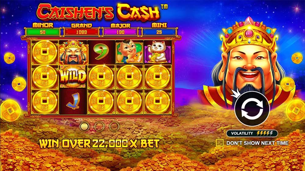 Caishen's Cash Slot - Intro Screen