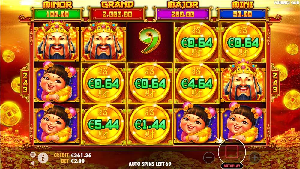 Caishen's Cash Slot - Bonus Trigger