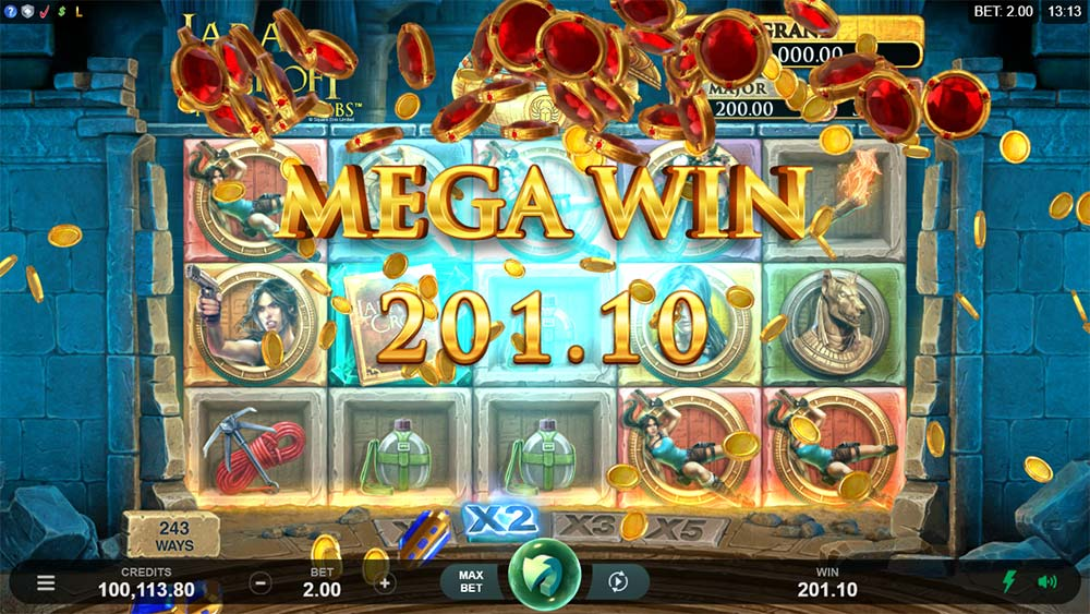 Lara Croft Temples and Tombs Slot - Mega Win
