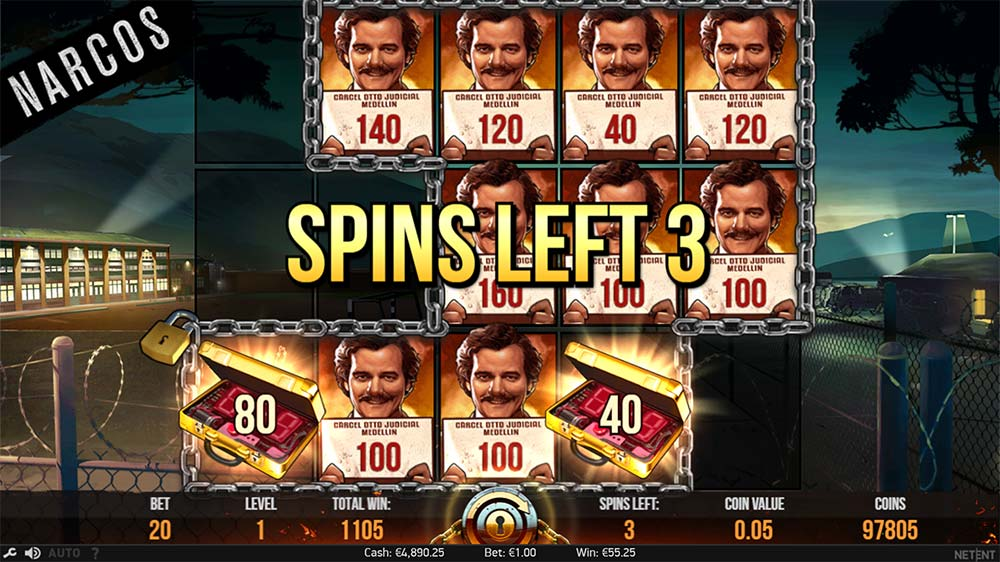 Narcos Slot - Locked Up Feature