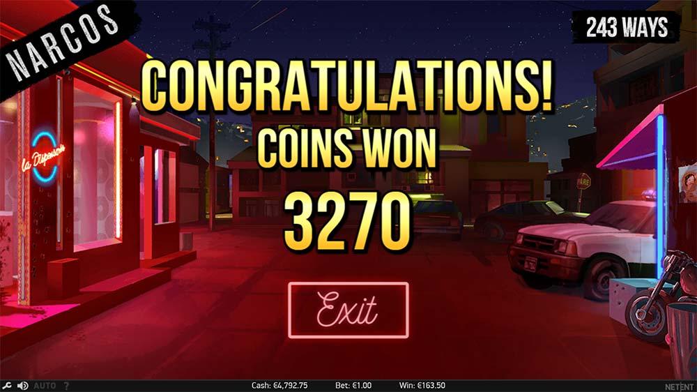 Narcos Slot - Bonus Round End