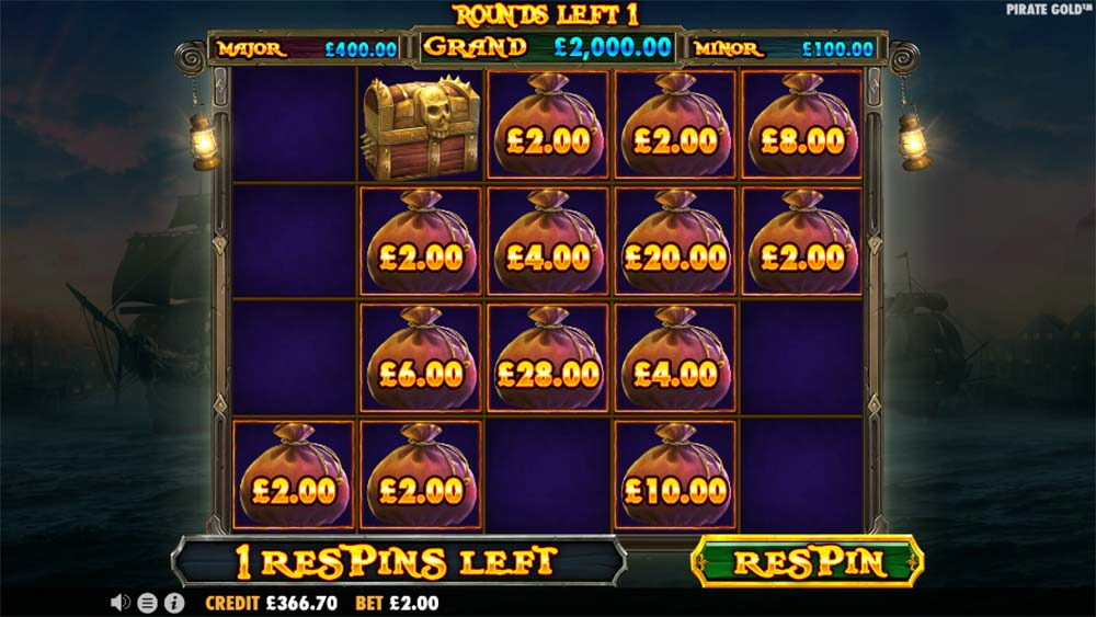 Pirate Gold Slot - Lucky Treasure Bag Feature