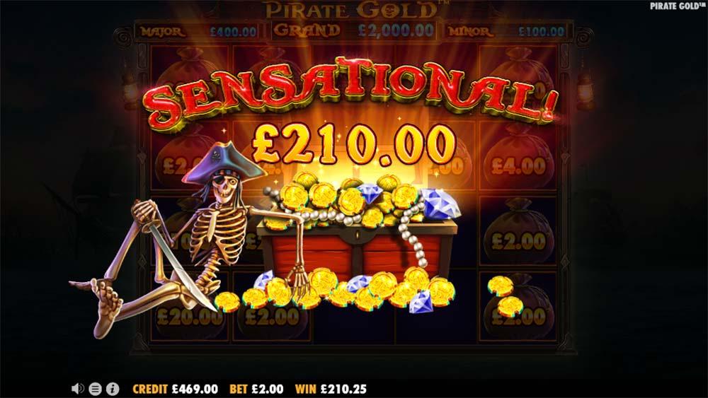 Pirate Gold Slot - Sensational Win