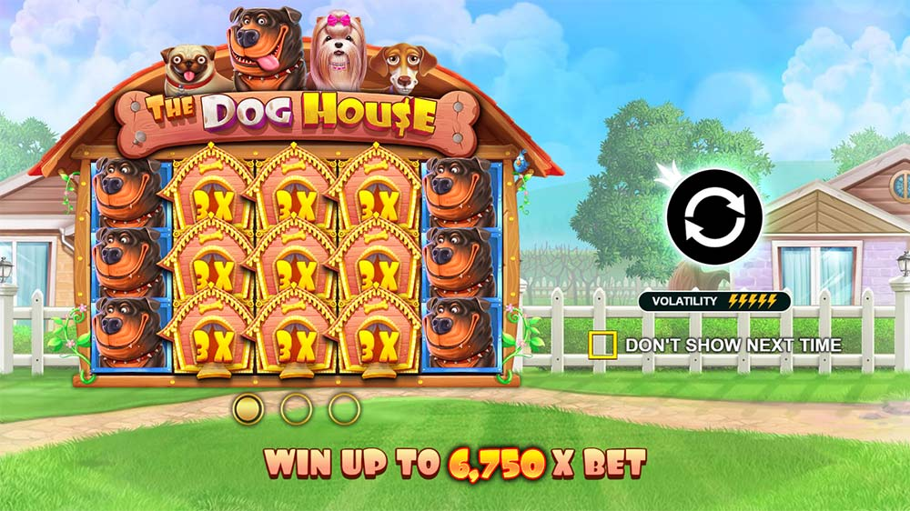 The Dog House Slot - Intro Screen