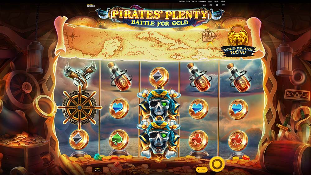 Pirates' Plenty Battle For Gold Slot - Wild Island Unlock