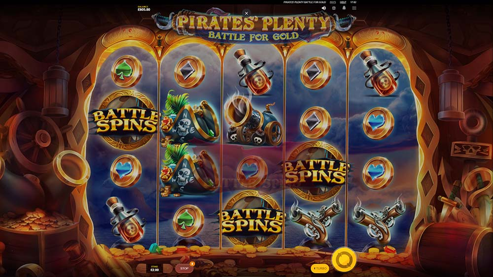 Pirates' Plenty Battle For Gold Slot - Bonus Trigger